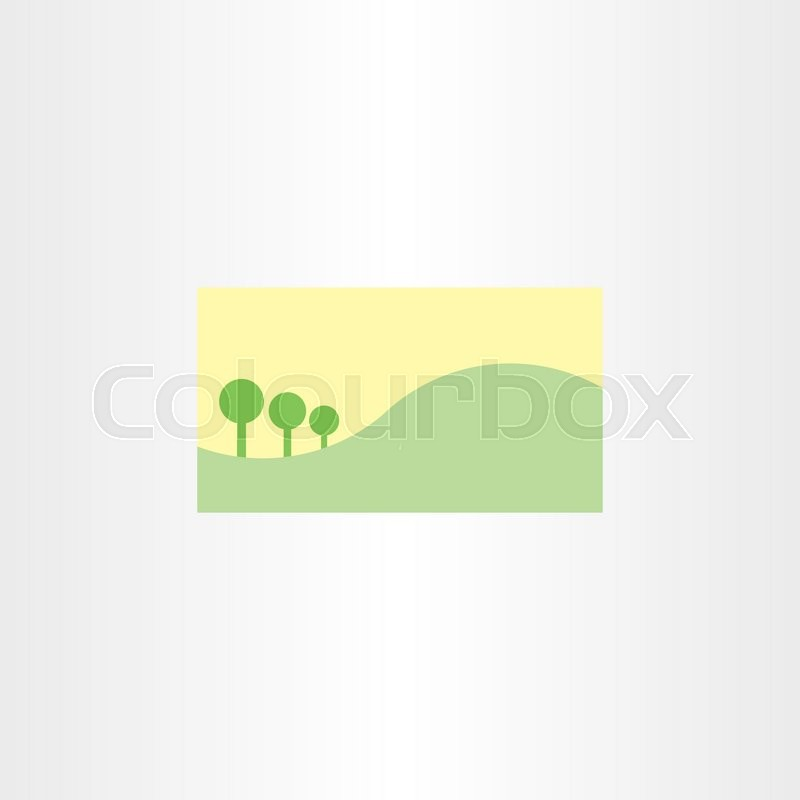 Vector Landscape Business Card Template Background Nature Stock