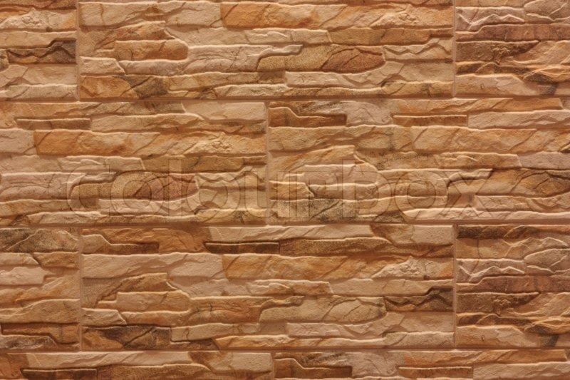 Decorative wall with a ceramic tile | Stock Photo | Colourbox