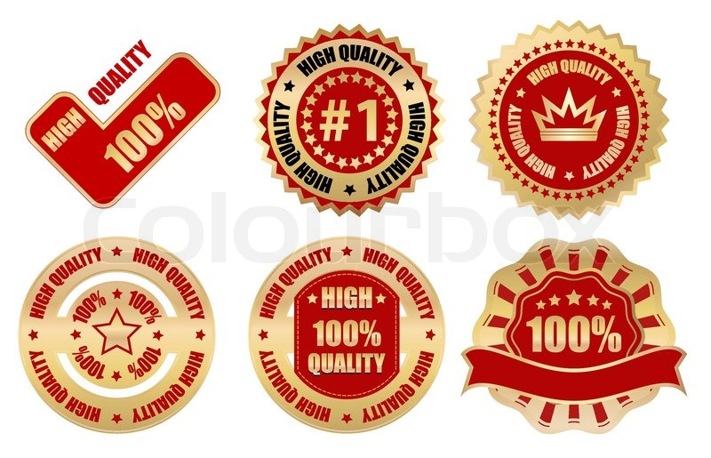 High quality labels and stickers stock vector colourbox