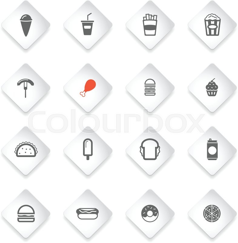 Fast Food Simply Symbol For Web Icons And User Interface Stock