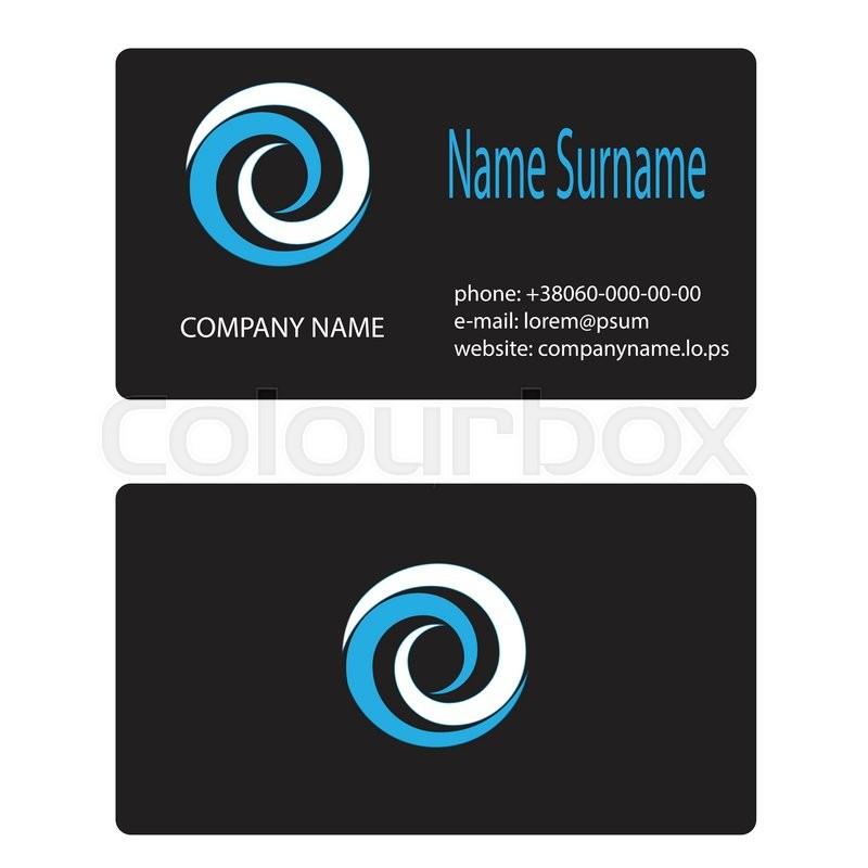 Business card logo whirlpool branding. Business card template ...
