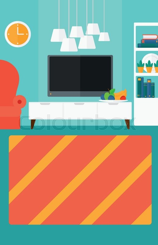 background of modern living room  | stock vector | colourbox
