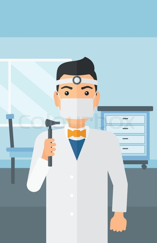 Doctor Otolaryngologist On The Background Of Medical