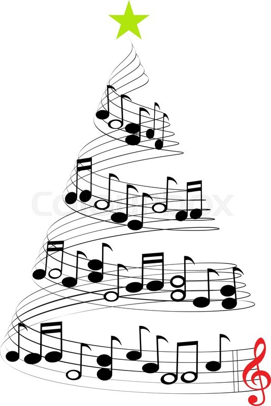 a christmas tree of musical notes symbolizing christmas carols and rh colourbox com christian music clipart christmas music clipart free download