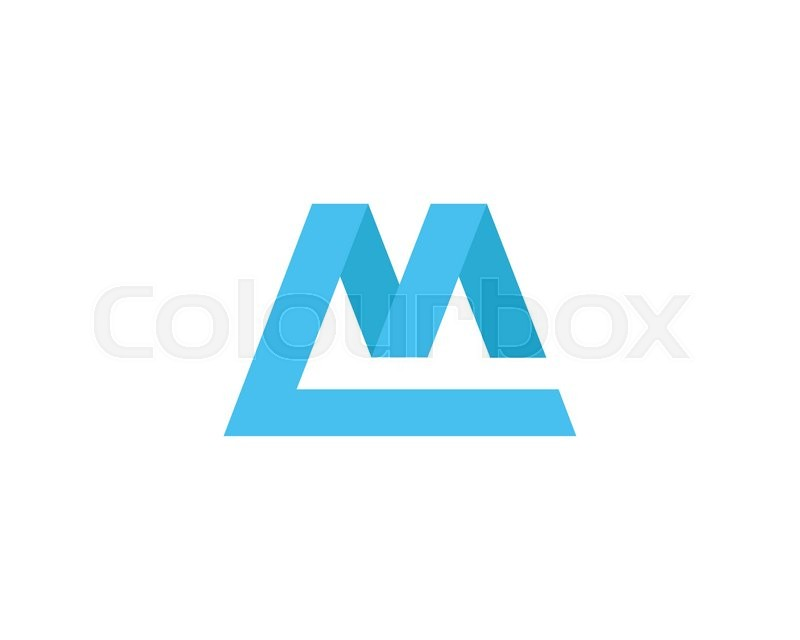 M Logo Design Letter M logo d...