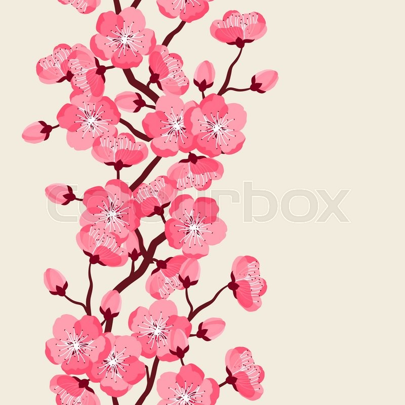 Japanese sakura seamless pattern with stylized flowers background japanese sakura seamless pattern with stylized flowers background made without clipping mask easy to use for backdrop textile wrapping paper mightylinksfo