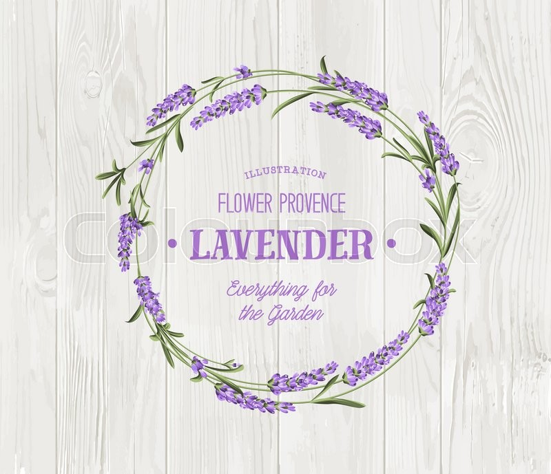 The lavender bouquet with text template over wooden texture the the lavender elegant card vintage postcard background vector template for wedding invitation vector illustration stock vector colourbox stopboris Choice Image