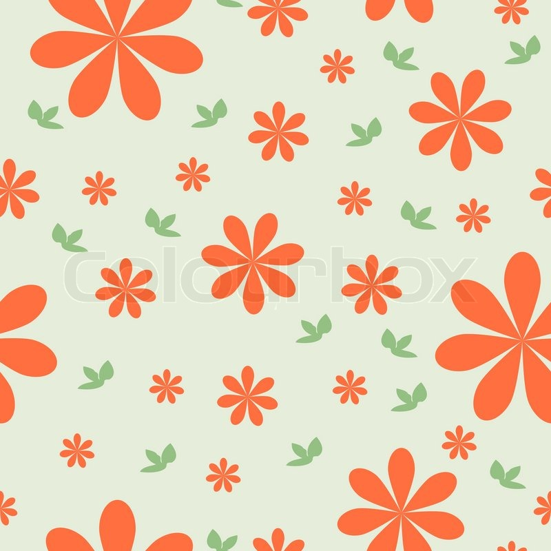 Floral wallpaper with set of different flowers could be used as floral wallpaper with set of different flowers could be used as seamless wallpaper textile wrapping paper or background stock vector colourbox mightylinksfo