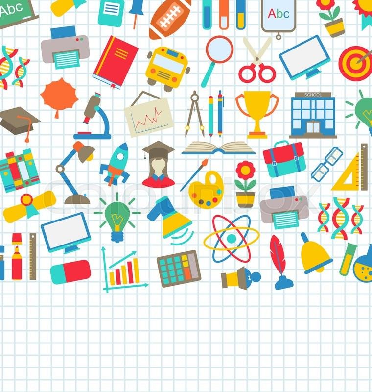 Illustration School Wallpaper With Place For Your Text