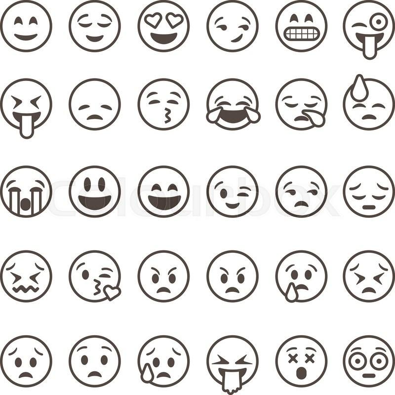 Single Line Emoji Art : Emoji stemning trist stock vektor colourbox