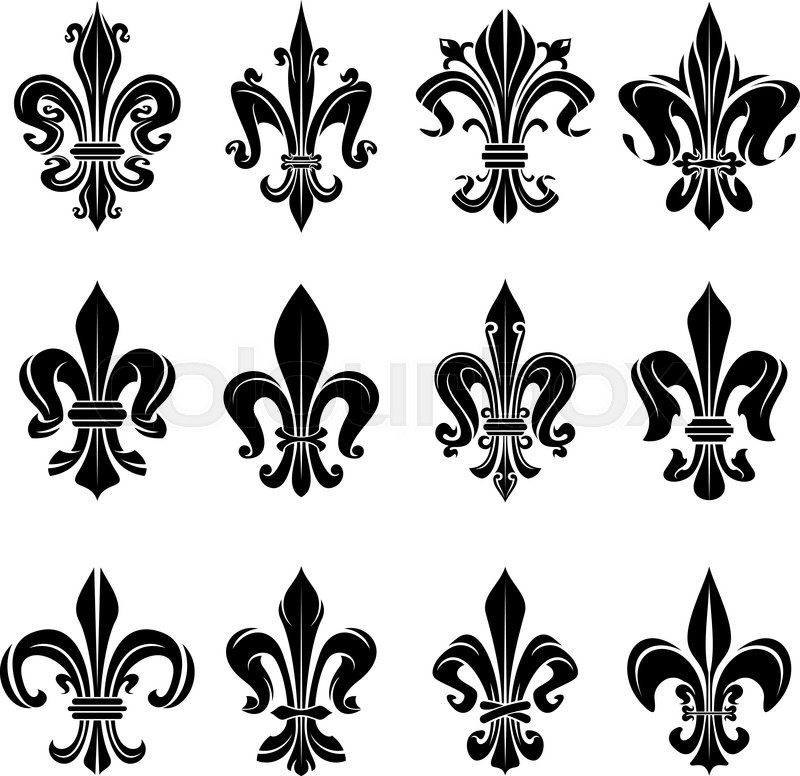 Royal French Heraldry Design Elements For Coat Of Arms