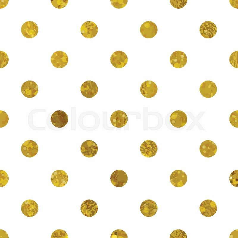 white and gold pattern abstract polka dot background