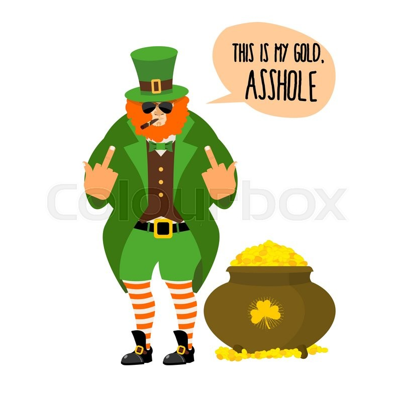 Bad leprechaun shows fuck bully with red beard angry leprechaun stock vector of bad leprechaun shows fuck bully with red beard angry leprechaun altavistaventures