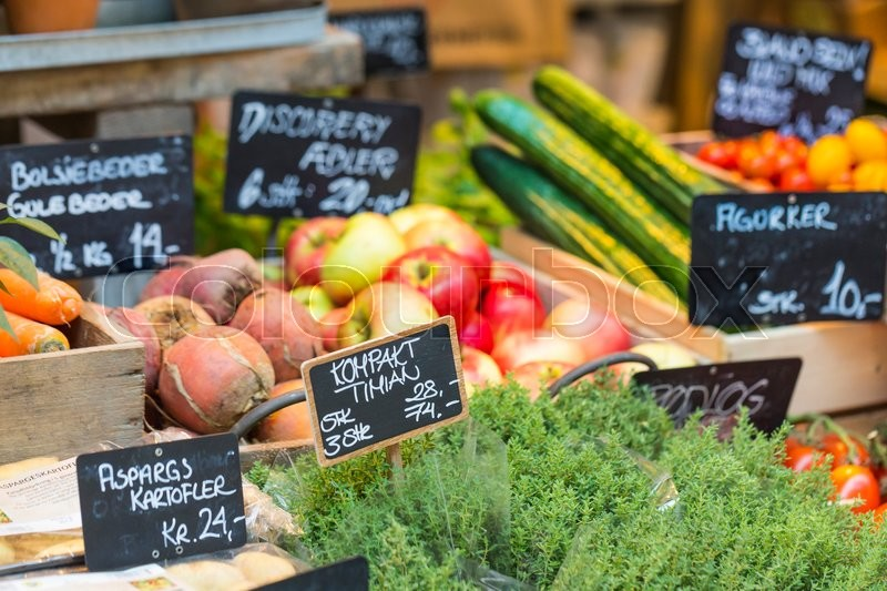 Fresh and organic vegetables at farmers market , stock photo