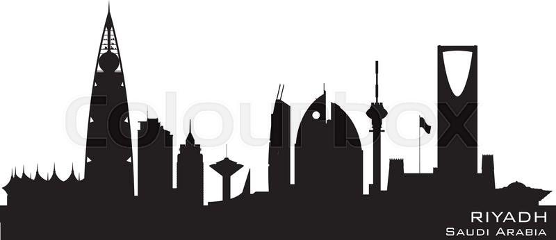riyadh saudi arabia skyline detailed vector silhouette stock rh colourbox com skyline vector pack free skyline vector free