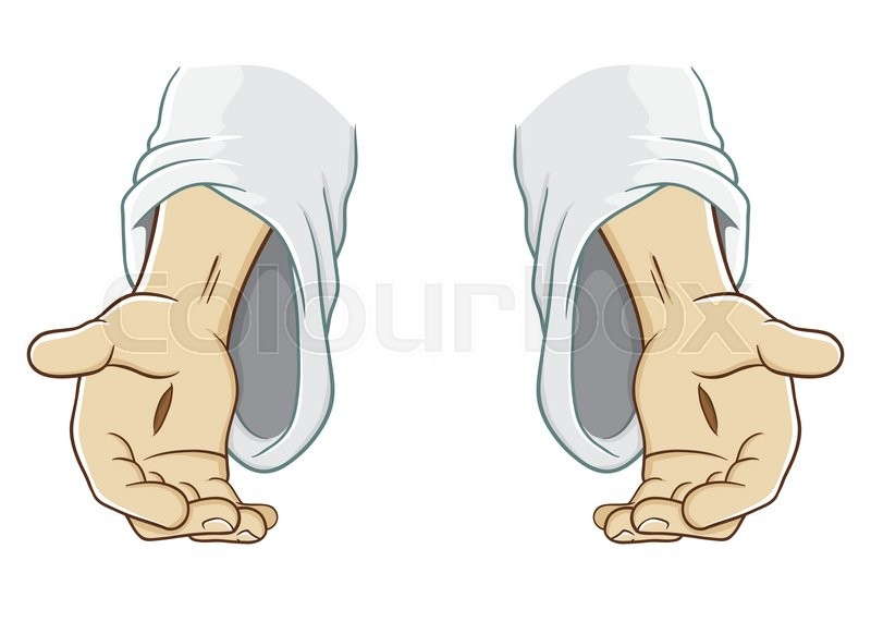 jesus christ hand reaching out  vector illustration Service Clip Art Office Assistant Clip Art