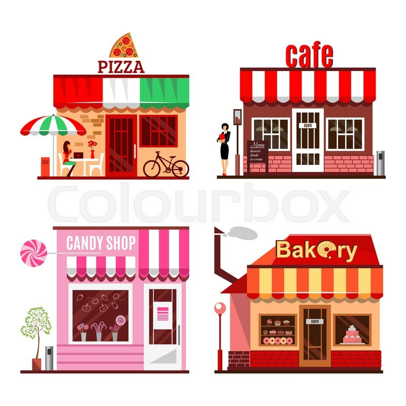 Cool Set Of Detailed Flat Design City Stock Vector