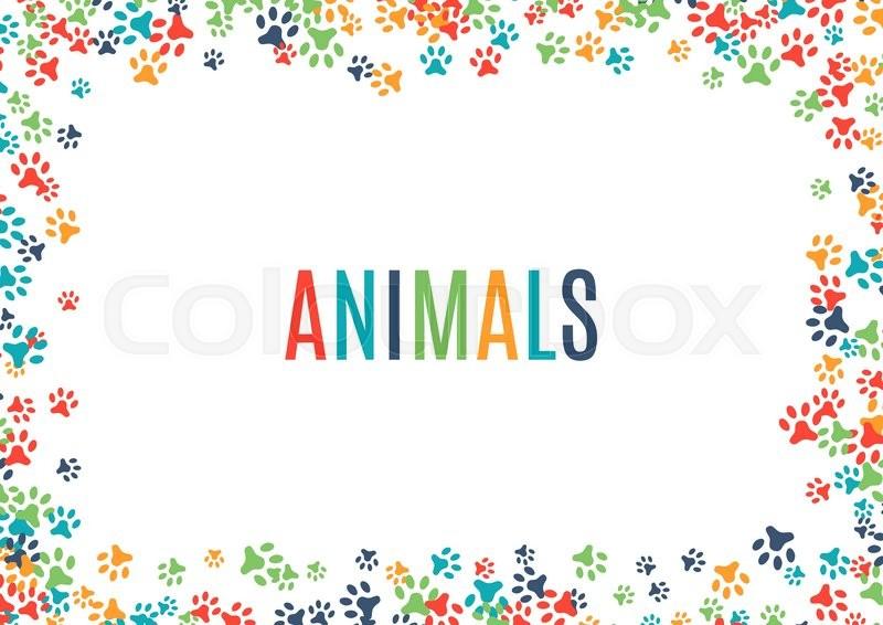 Animal Paw Print Border Designer Roll