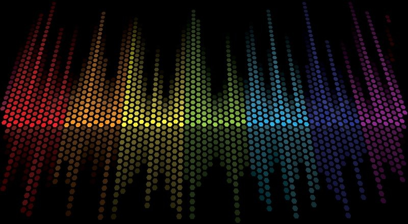 Download Free 3d Music Equalizer Wallpapers Hd: Vector Color Scale Equalizer On Black Background
