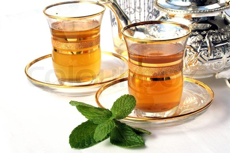 Traditional Moroccan mint tea | Stock Photo | Colourbox
