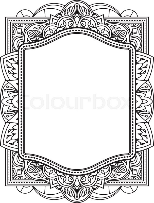 Ethnic template for design wedding invitations and greeting cards ethnic template for design wedding invitations and greeting cards henna flowers mehndi elements of vintage patterns indian or asian motif vector stopboris Gallery