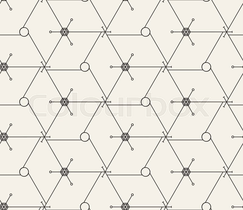 vector seamless pattern  modern stylish texture  repeating geometric tiles with thin hexagonal