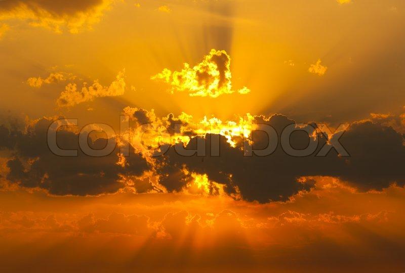 Sunset, stock photo