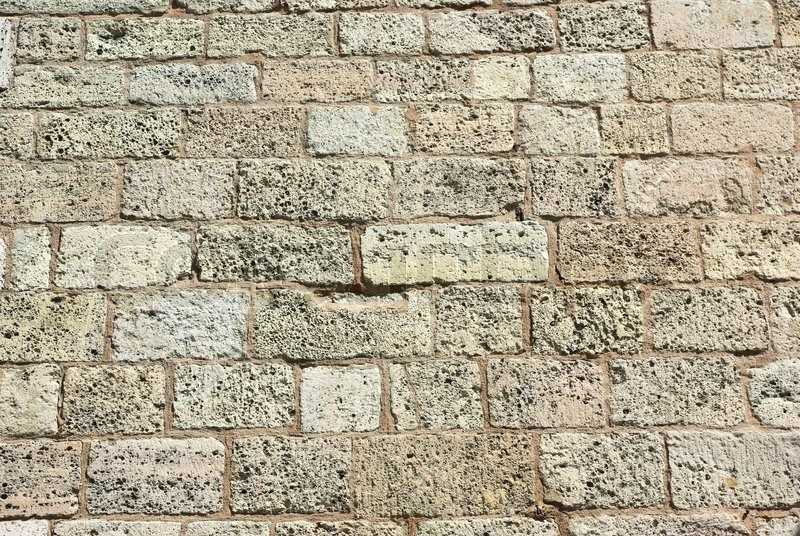 Ancient Weathered Brick Wall Close Up Background