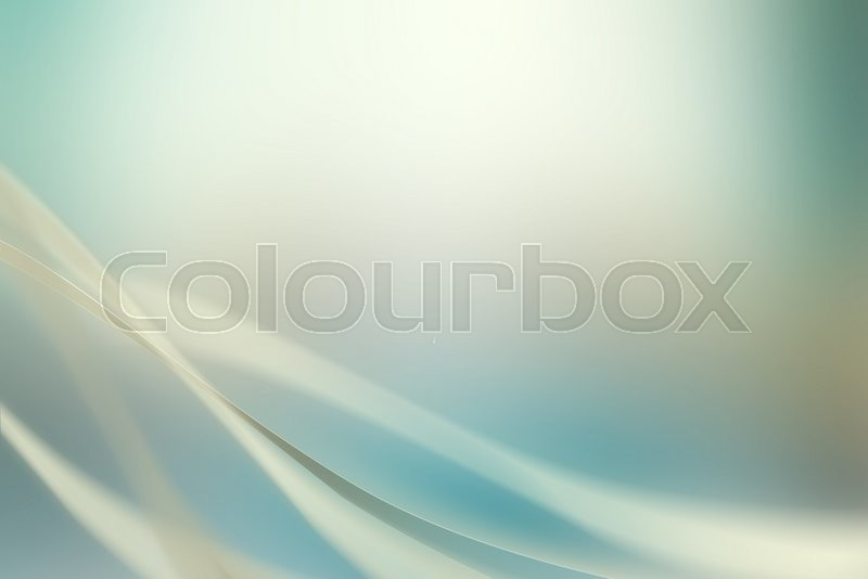Faded Background With Abstract Swirls In Green And Blue Color