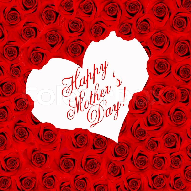 Red Roses Happy Mothers Day Card Stock Photo Colourbox