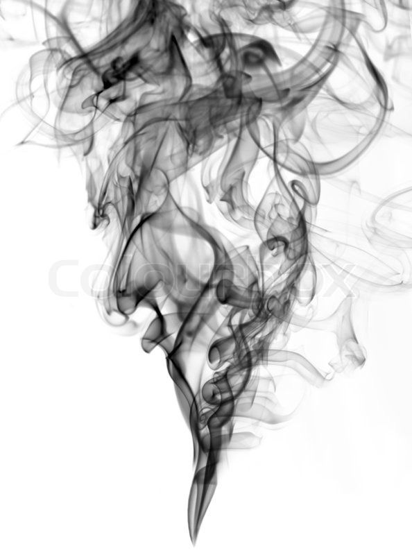 Black Color Smoke From White Background The Abstract Image Of A On