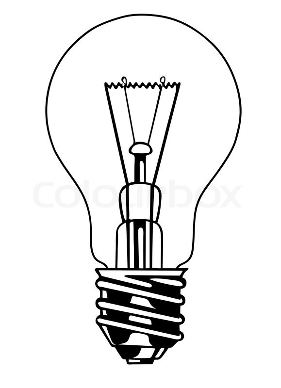 vector light bulb on white background stock vector. Black Bedroom Furniture Sets. Home Design Ideas