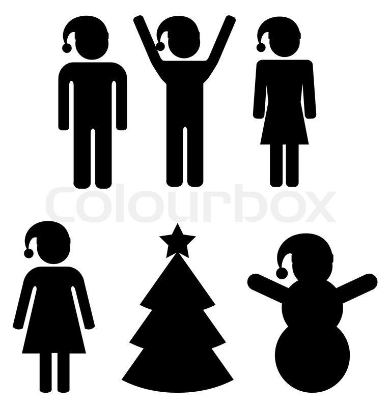 Männliche und weibliche Zeichen - Weihnachten   Vektorgrafik   Colourbox