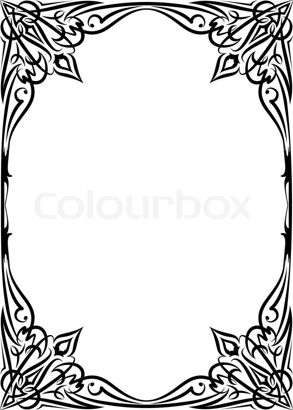 Stock Vector Of Filigree Border Art