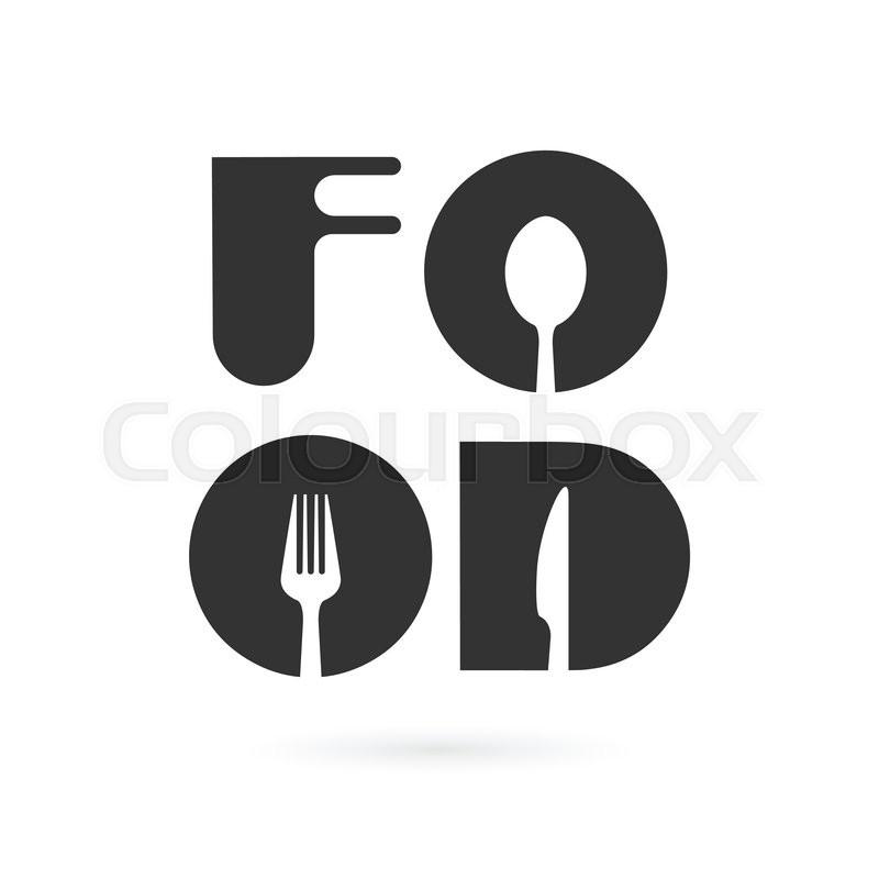 Creative food word logo elements     | Stock vector | Colourbox
