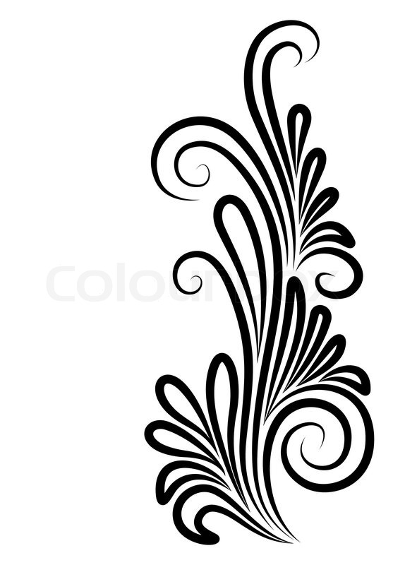 Corner, old, flourishes | Stock Vector | Colourbox