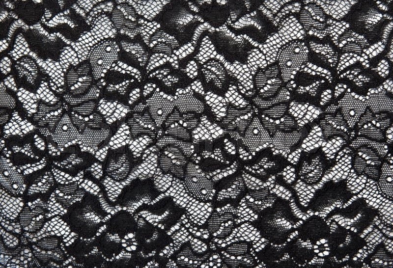 Background from black lace with pattern ... | Stock Photo ...