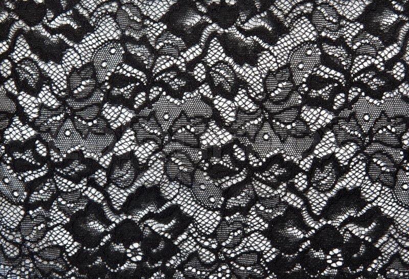 hintergrund aus schwarzer spitze mit muster mit form blume auf wei em stockfoto colourbox. Black Bedroom Furniture Sets. Home Design Ideas