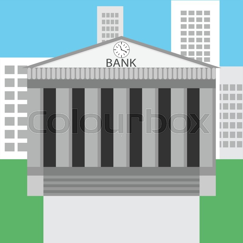 Bank building design flat bank and bank vault bank for Bank designs architecture