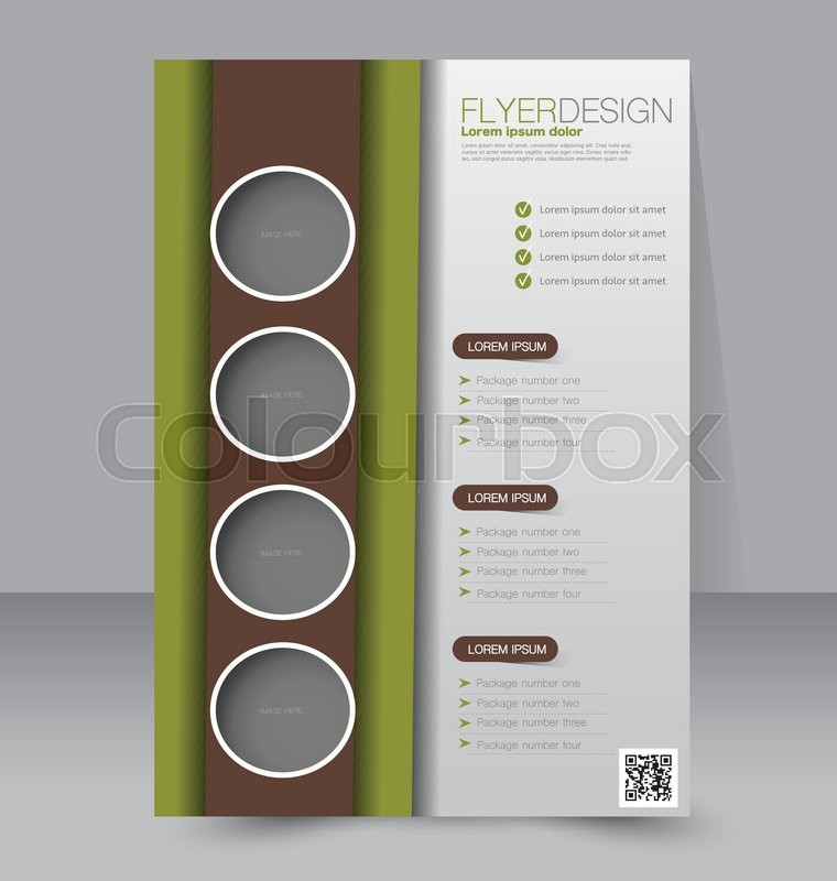 Brochure Design Flyer Template Editable A4 Poster For Business