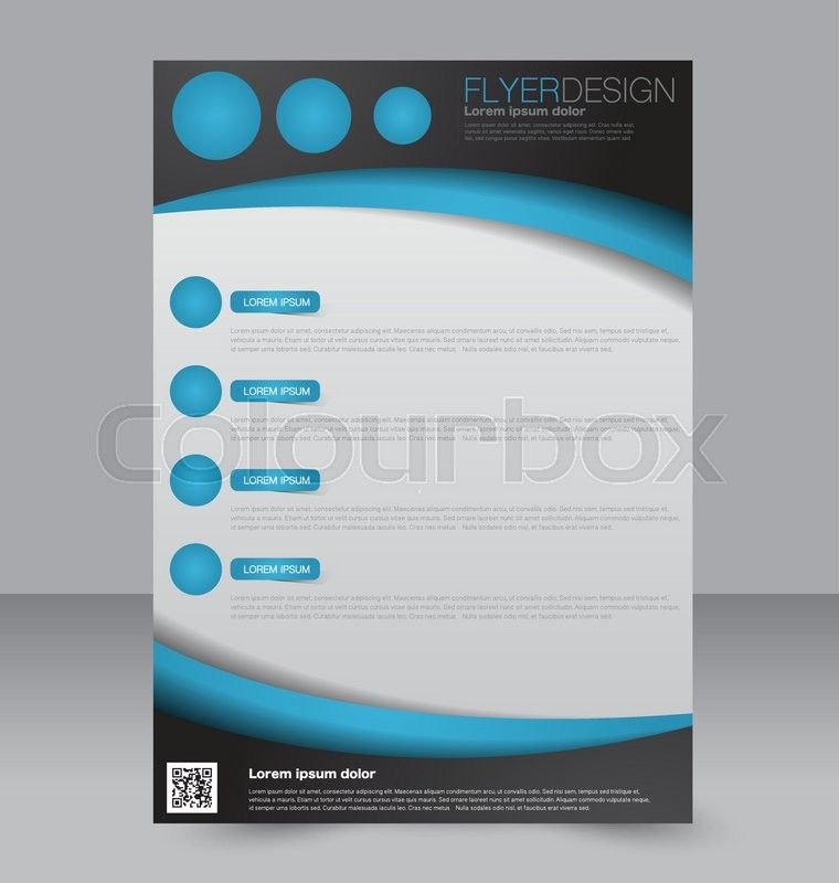 Brochure Design. Flyer Template. Editable A4 Poster For Business
