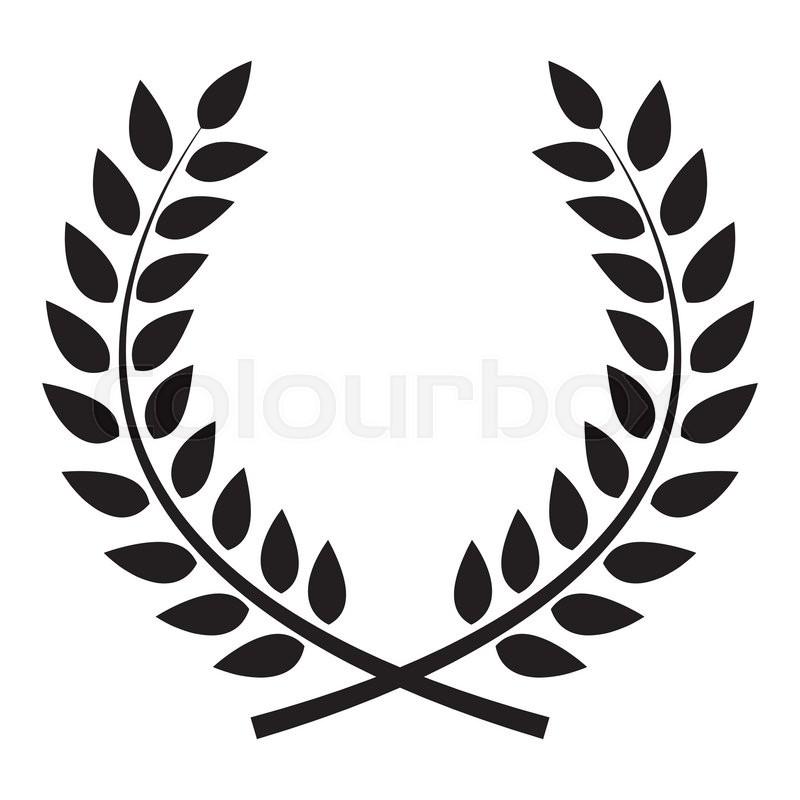 Award Laurel Wreath Winner Leaf Label Symbol Of Victory Vector