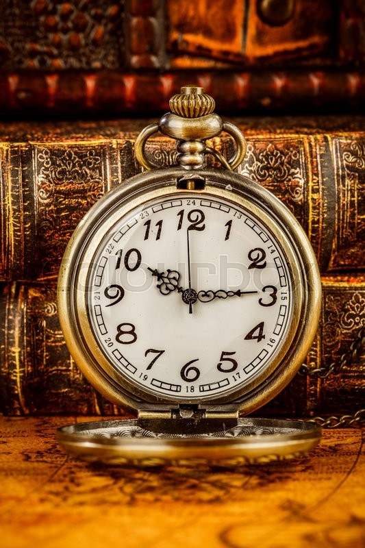 Vintage Antique Pocket Watch On The Stock Photo Colourbox