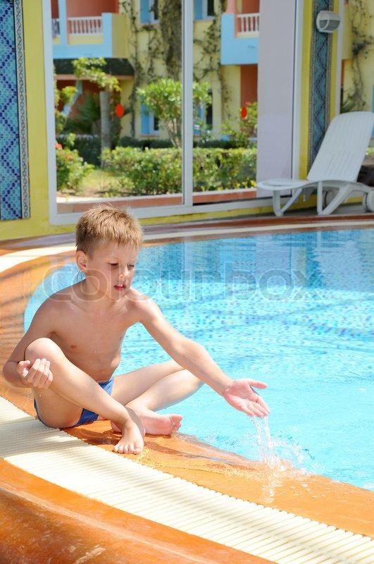 boy im swimming naked