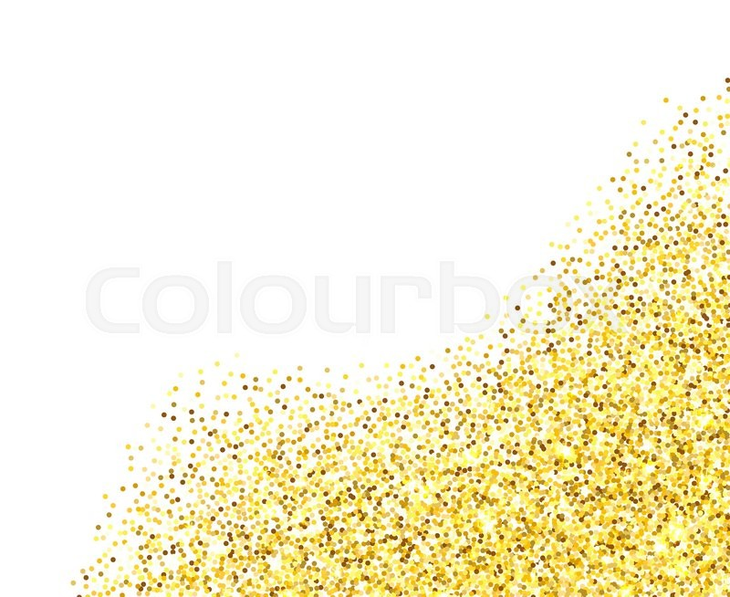 e8fe59a1ad60 Gold glitter texture border over white ...