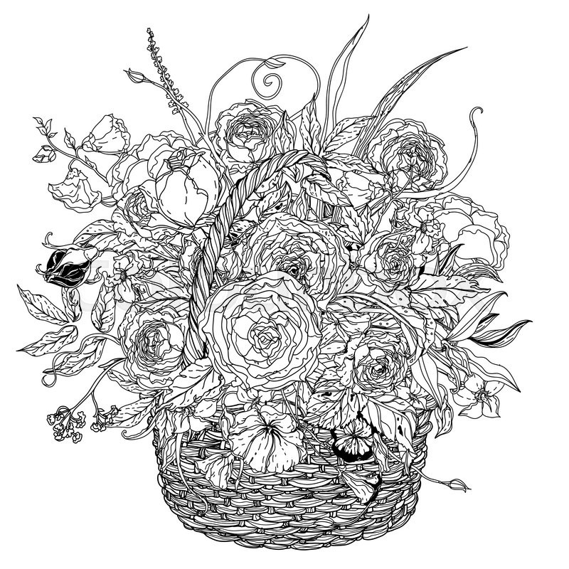 flower box coloring pages - photo#21