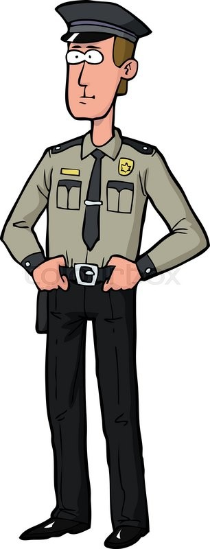cartoon doodle security guard on a white background vector