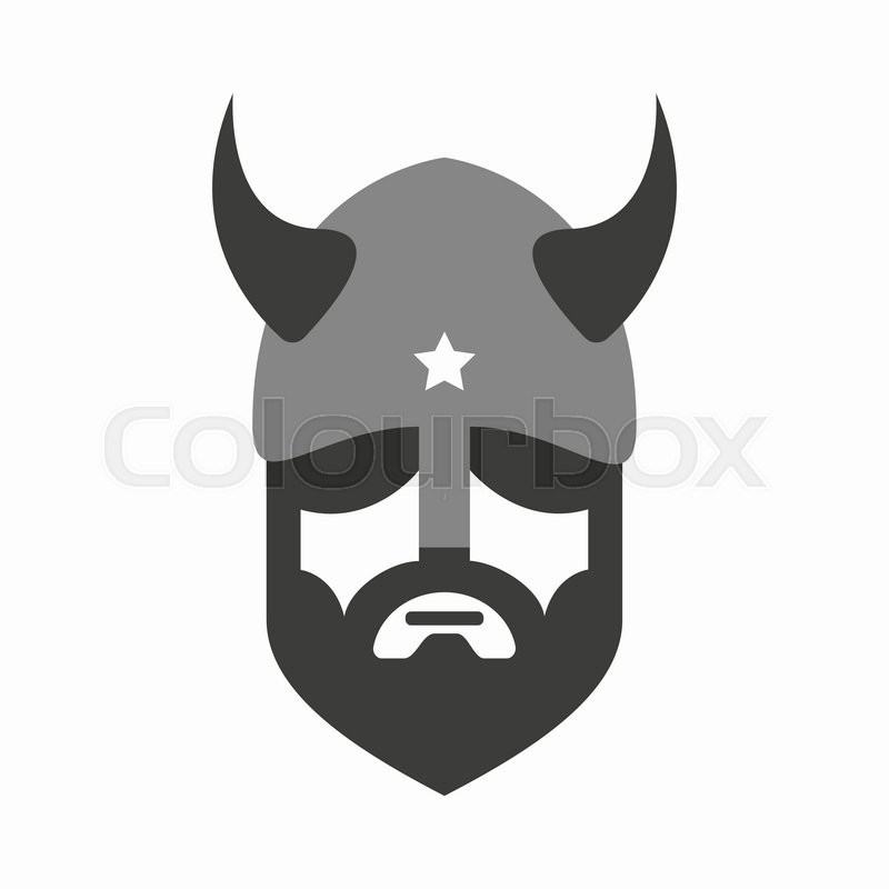 viking head logo vector design head of warrior symbol or icon