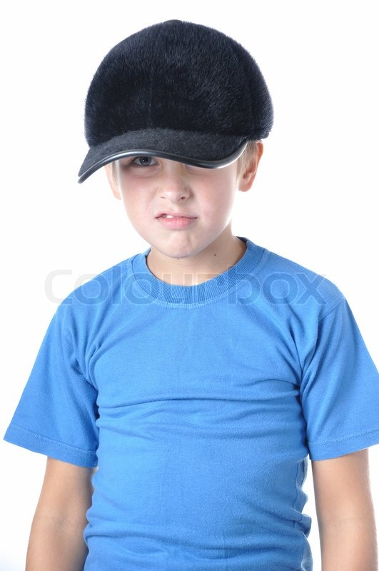 young boy wearing baseball cap white a hat indoors caps in europe wear inside out
