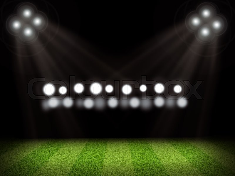 football field and bright lights  sport concept